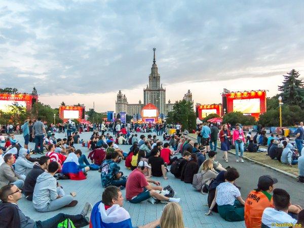 Фан-зону ЧМ-2018 на Воробьевых горах посетили более 1,66 млн болельщиков